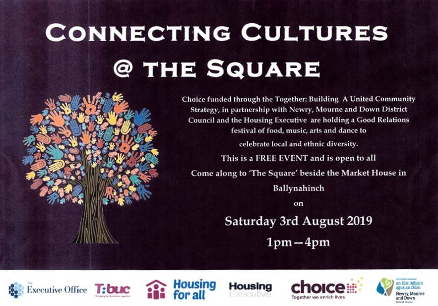 Flyer for Connecting Cultures at the Square | CRC NI