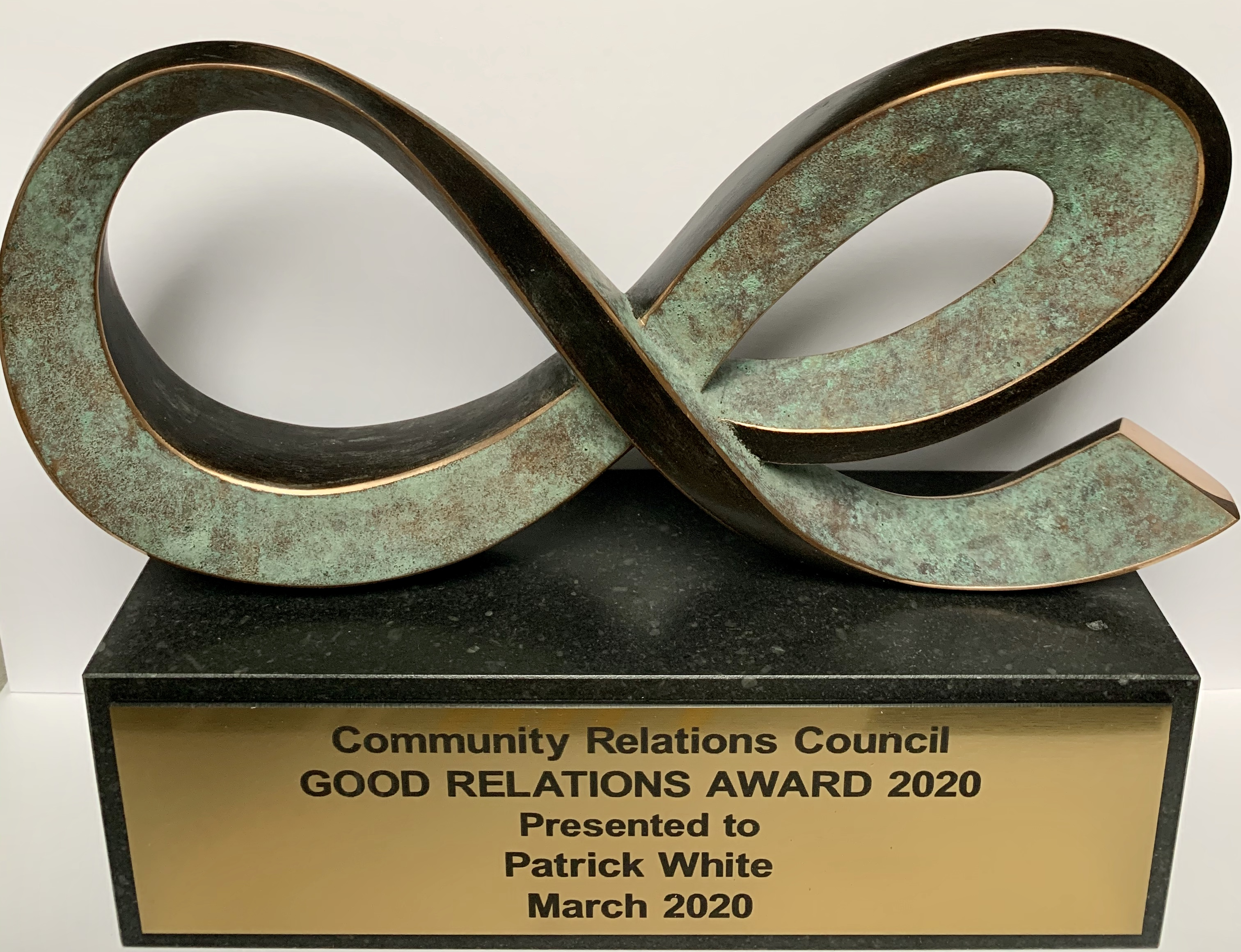 Good Relations Award trophy 2020 | CRC NI