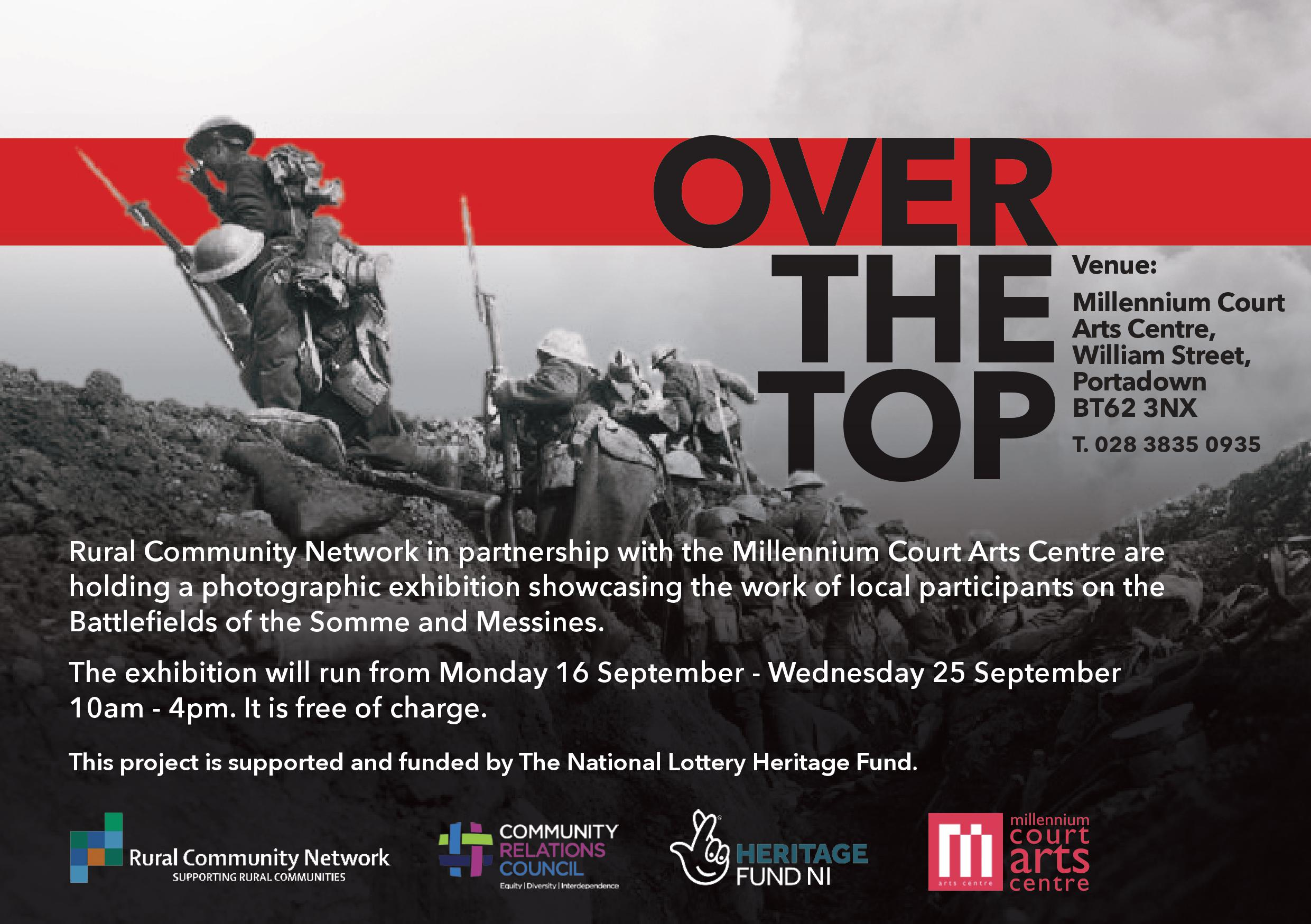 Flyer for Over The Top exhibition | RCC NI