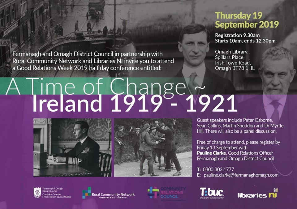 A time of change flyer | CRC NI