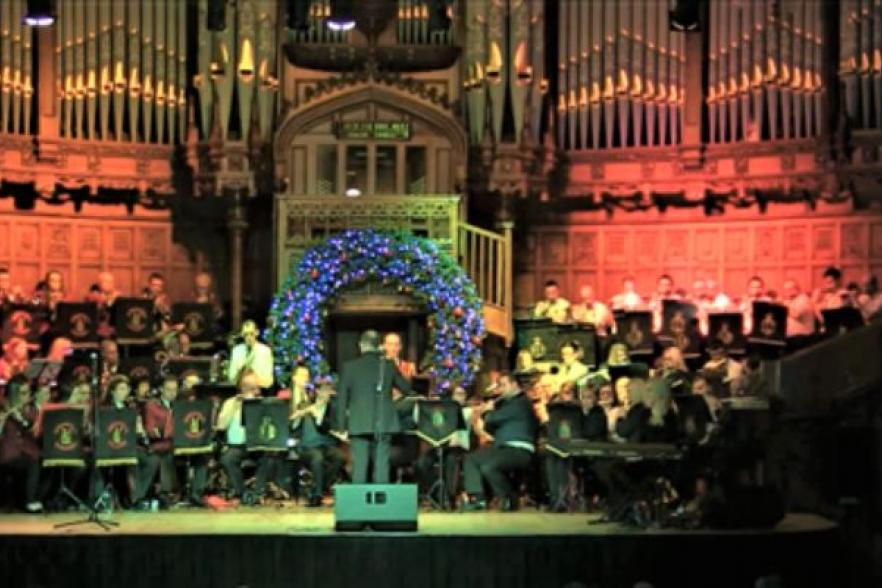 Londonderry Bands Forum performing on stage | CRC NI