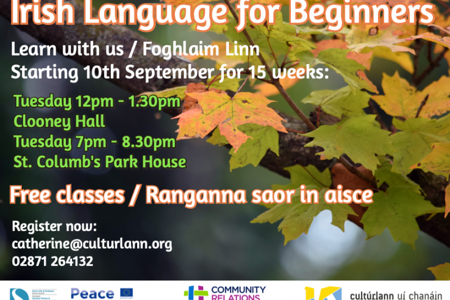 Flyer for Culturlann class | CRC NI