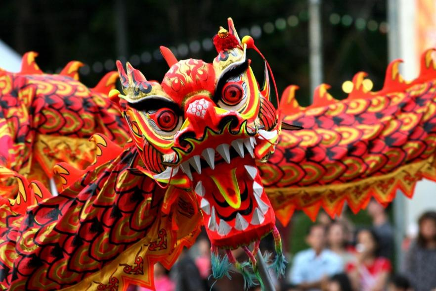 A colourful paper Chinese dragon   CRC NI