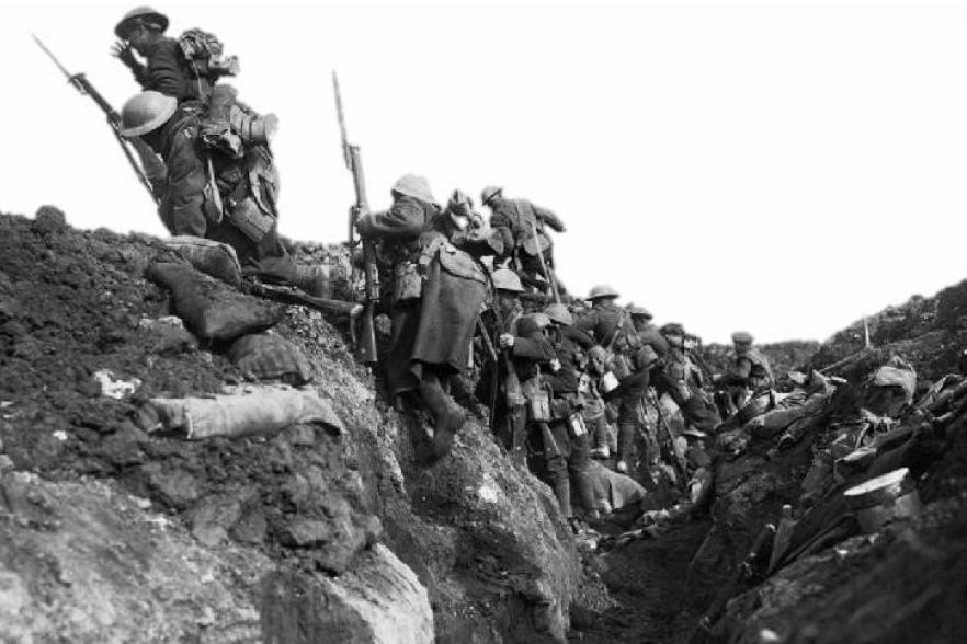 Soldier climbing out of a WW1 trench | CRC NI
