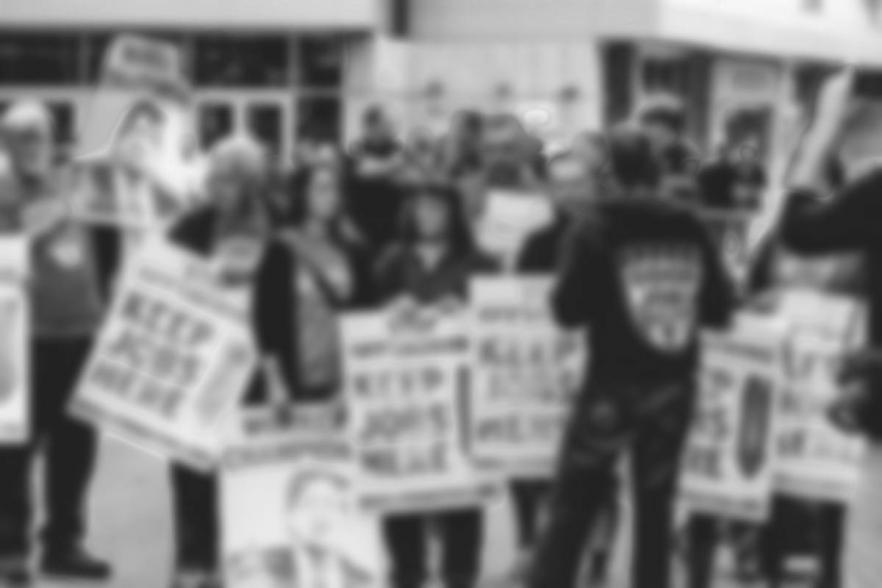 Protesters at a picket line | CRC NI