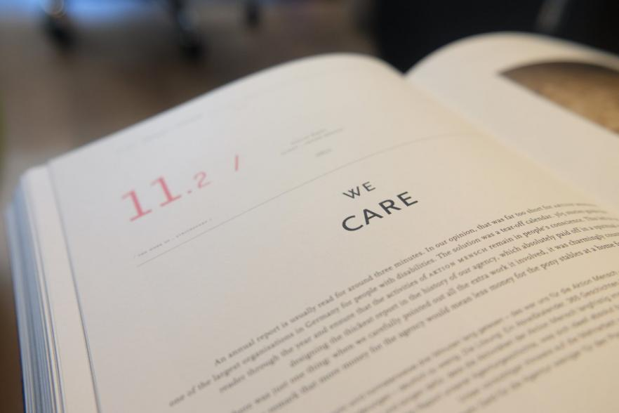 a book entitled We Care | NI CRC
