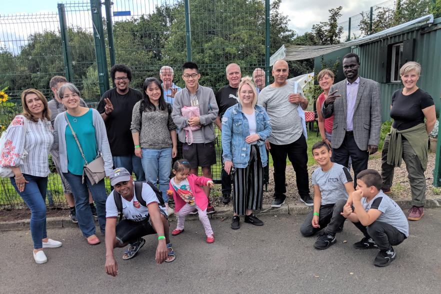 Participants at the AYE Welcoming Newcomers to North Belfast programme