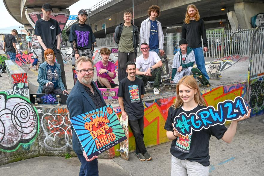 Young people at a skate park | NICRC