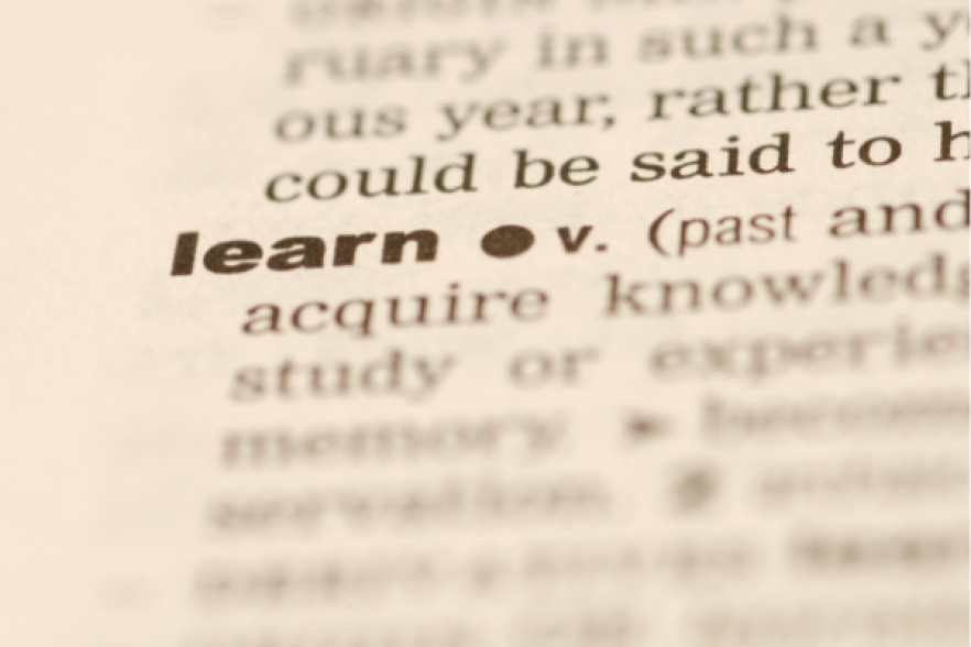 the dictionary image of learning | NICRC