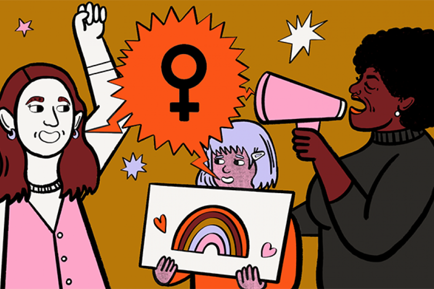 An illustration of women together   NICRC